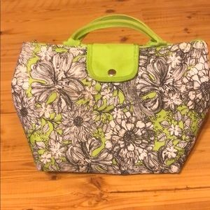 Green Patterned Lunch Box